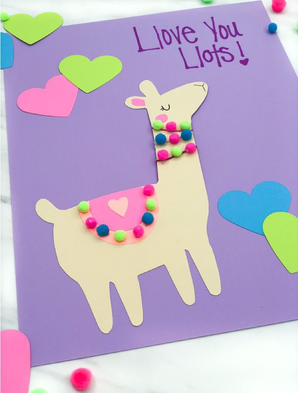 A Simple Cute Llama Valentine Craft For Kids With Free Printable