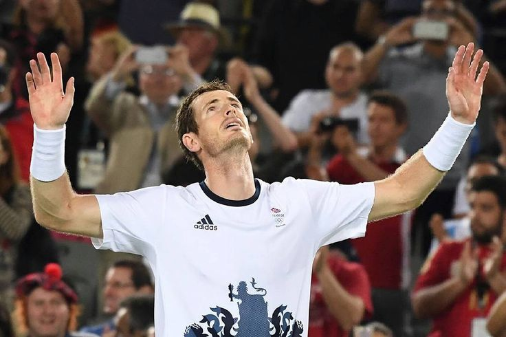 """When you are the pride of your Country! (And more) 2 times Gold Olympic Men's Singles Medalist Sir Andrew Murray!! About  the """"sir"""": wait for it!  Photo/Foto: unknown/Desconocido  #andymurray  #murray #andy #greatbritain #uk #scotland #olympics #rio2016 #gold #olympicgoldmedalist #2times #tennis #atp #wta #tennis #tenis #underarmour #head #adidas @andymurray @andy_murray"""