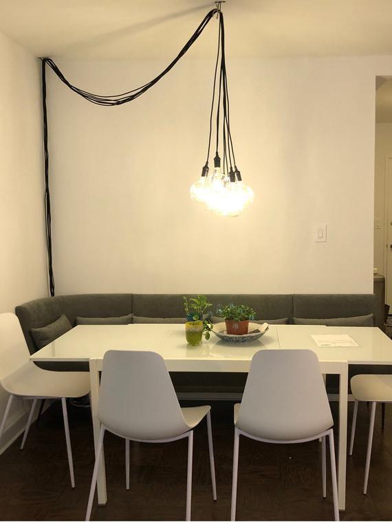 Plug In Dimming Chandelier Choose 3 5 7 Pendant Lights Etsy In 2020 Plug In Pendant Light Plug In Chandelier Apartment Lighting