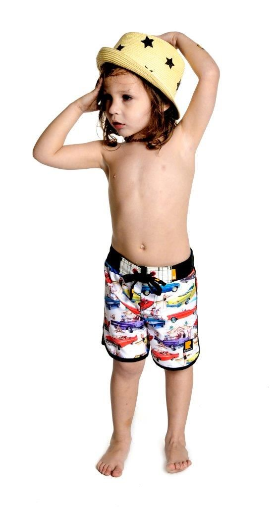 Vintage Cars Boardshorts | Rock Your Baby summer 13 | Kids Fashion