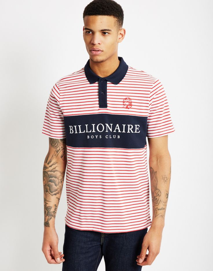 Billionaire Boys Club Monaco Polo Shirt Red Stripe | Shop men's street wear clothing at The Idle Man