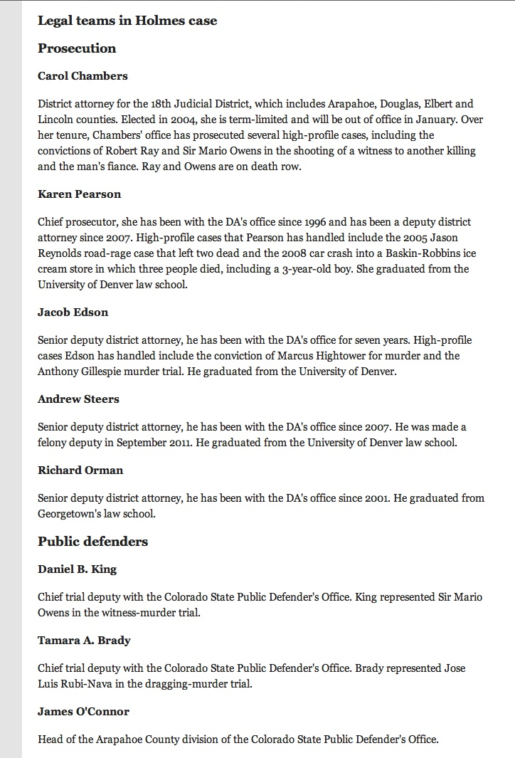 63 best The People vs James Eagan Holmes images on Pinterest - municipal court clerk sample resume