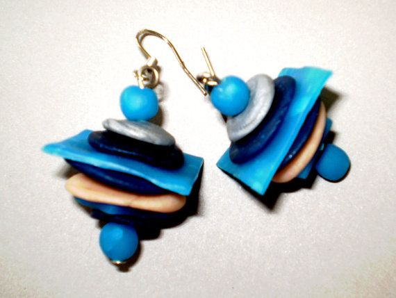Handmade earrings abstract art handcrafted by Inspiration2Art, $12.99