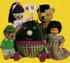 Playschool. Big Ted, Little Ted, Jemima,Hamble and Humpty.
