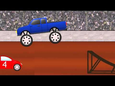 kids cartoons learn your numbers with monster trucks crushing cars youtube