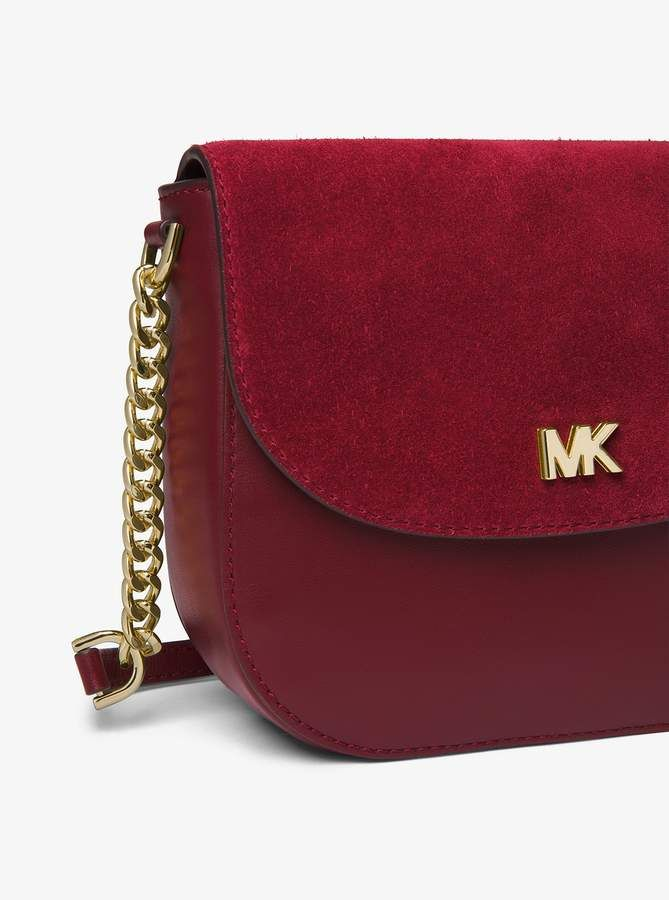 1f03a18b1 MICHAEL Michael Kors Mott Leather and Suede Saddle Bag | Products in ...
