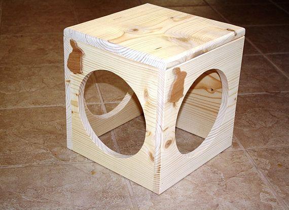 Bunny Rabbit Tunnel Box Toy by BunnyRabbitToys on Etsy, $39.00
