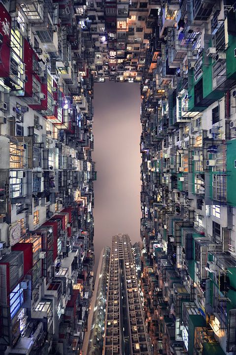 vertical perspective - Hong Kong 井底之蛙