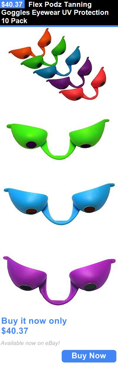 Tanning Disposables: Flex Podz Tanning Goggles Eyewear Uv Protection 10 Pack BUY IT NOW ONLY: $40.37