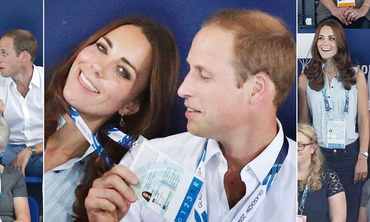 Prince William and wife Kate at the Commonwealth games in Glasgow