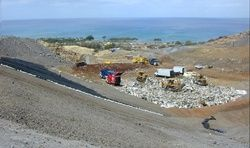 This landfill in Hawaii has a spectacular view of the ocean.  Lucky landfill...