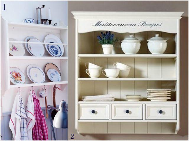 ♥ Annelerle Hayata Dair ♥: DIY: Mutfak rafı, tel dolap, tabaklık vs...