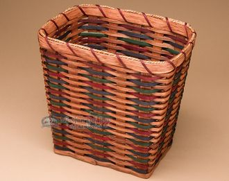 Amish Made Waste Basket - Rectangle (EM52)