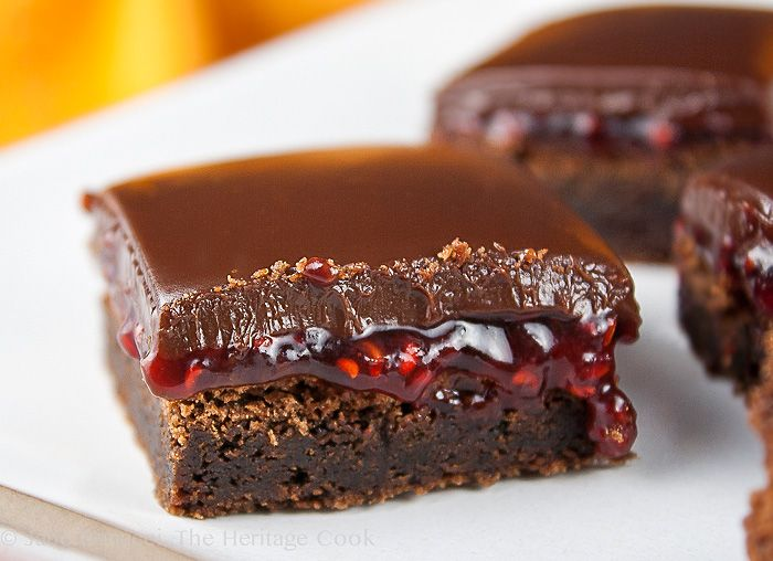 You are going to LOVE today's Chocolate Monday! I dare you to eat just one of these delectable chocolate and raspberry brownies! They are incredible and one of my best recipes so far, courtesy of The Keenan Cookbook (SRC)!! 2013 The Heritage Cook