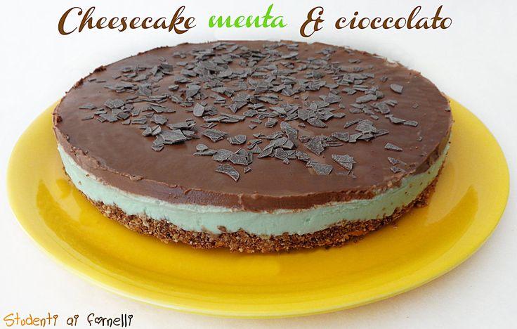 cheesecake menta e cioccolato ricetta cheesecake estiva senza cottura