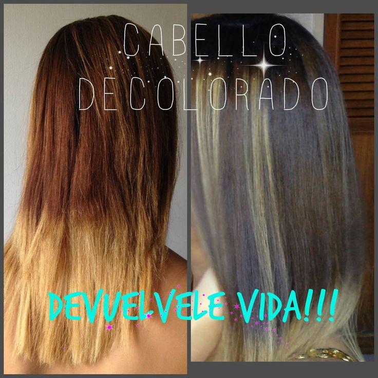 Cabello DECOLORADO: Hidratación profunda de cabello que da BRILLO sin pu...