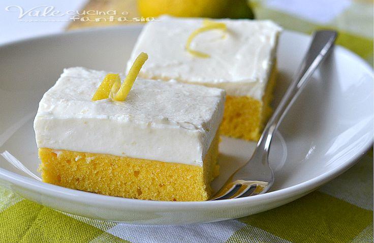 Cheesecake brownies al limone ricetta dolce soffice e cremosa, ideale per un fine pasto o per merenda questo dolce tutto americano vi conquisterà
