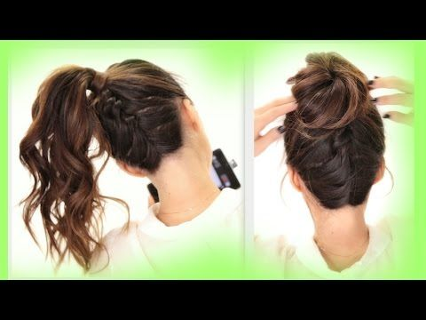 ★2 Cute BRAIDS BACK-TO-SCHOOL HAIRSTYLES | Braided Messy Bun Hairstyle - YouTube