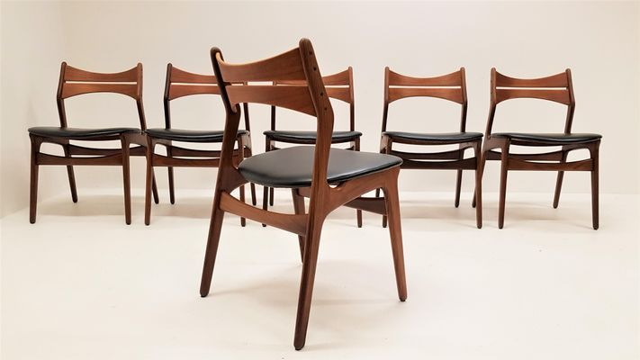 Model 310 Teak Dining Chairs By Erik Buch Set Of 6 For Sale At