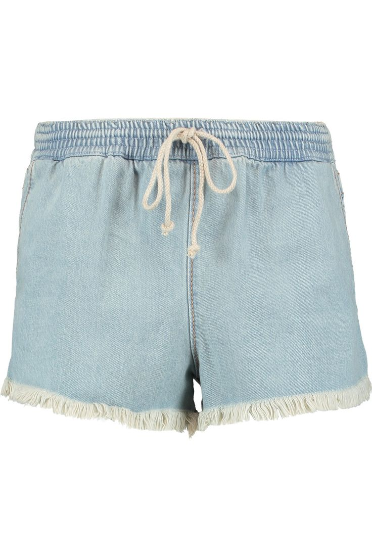 Shop on-sale Chloé Frayed denim shorts. Browse other discount designer Shorts & more on The Most Fashionable Fashion Outlet, THE OUTNET.COM
