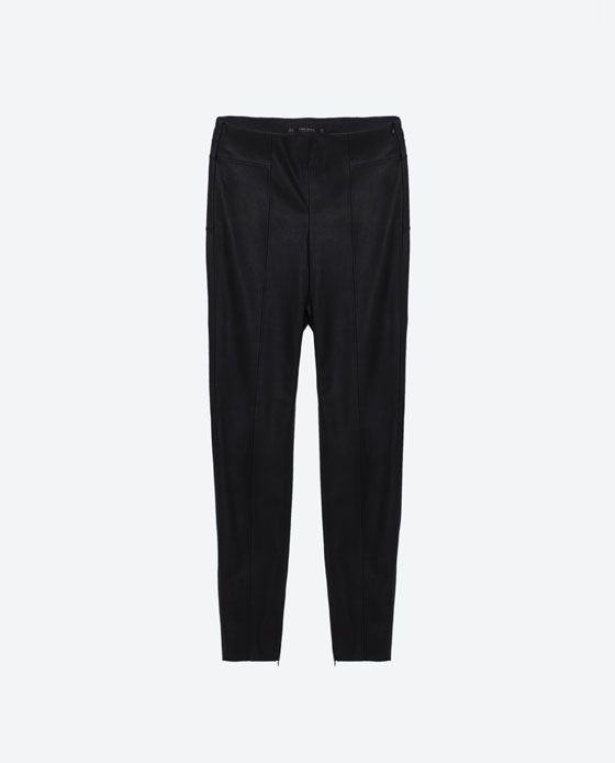 Image 8 of FAUX LEATHER LEGGINGS from Zara