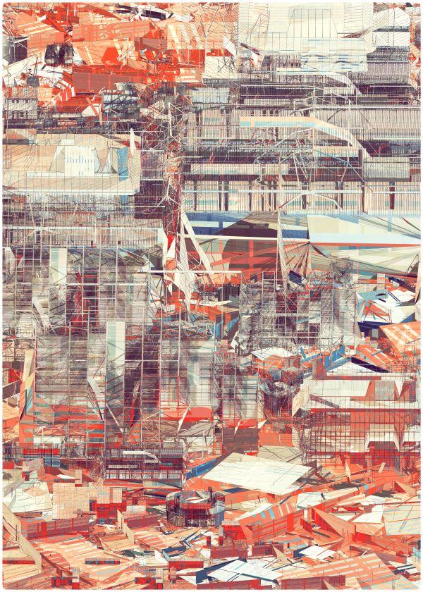 SCAFFOLDING II by atelier olschinsky , via Behance