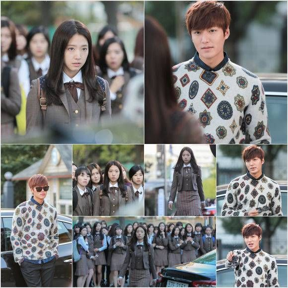 Lee Min Ho and Park Shin Hye go back to school in new still cuts for 'Heirs' | allkpop