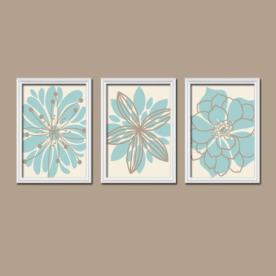 Light Blue Bathroom Wall Art Canvas Or Prints Blue Bedroom: Mandala Wall Art, BATHROOM Wall Decor, CANVAS Or Prints