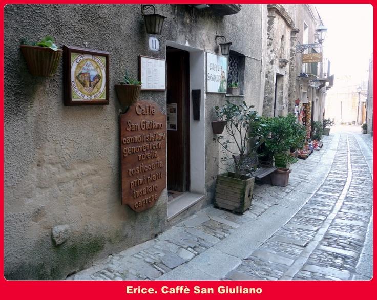 Erice (Trapani - Sicily). Caffè San Giuliano.