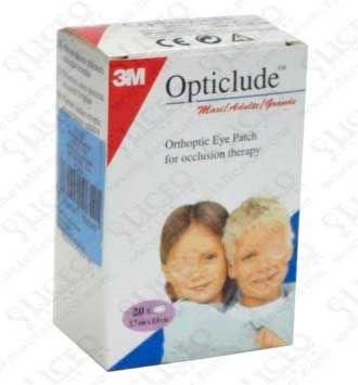 OPTICLUDE PARCHES OCULARES 1539 TALLA GRANDE 8,0X5,7 CM 20 UNIDADES