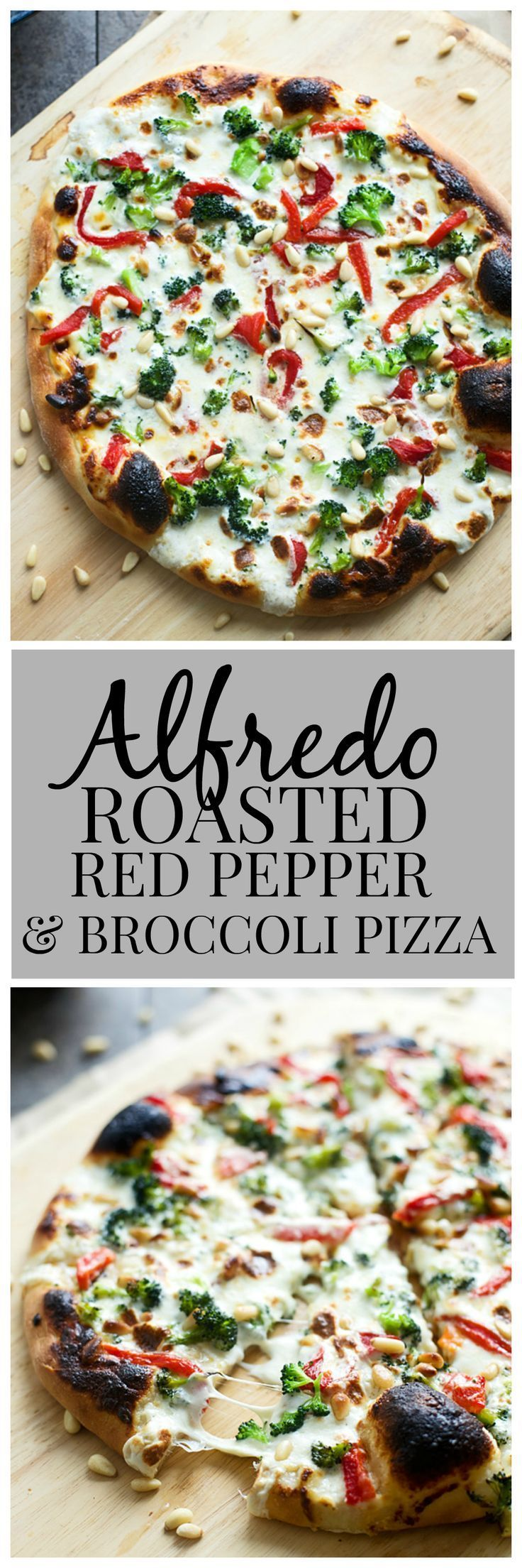 Alfredo, Roasted Red Pepper and Broccoli Pizza - Plus fool-proof tips on how to make restaurant-quality pizza at home.