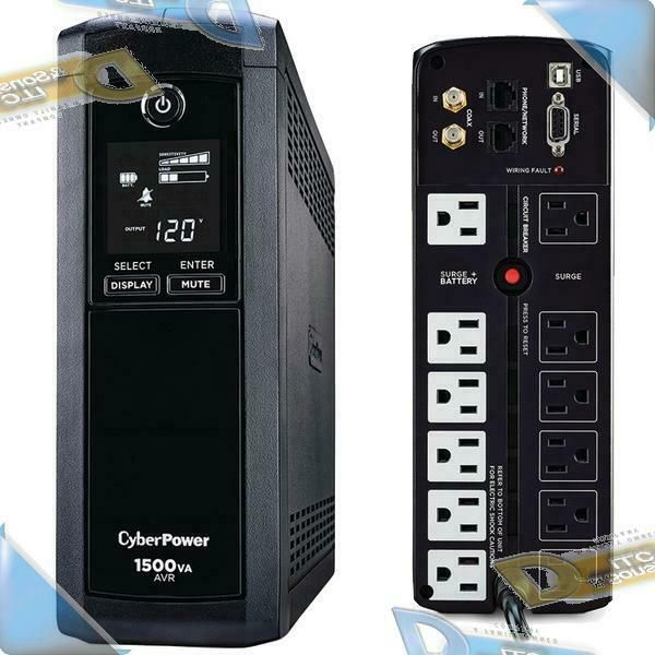 Ebay Sponsored New Cyberpower 12 Outlet 1500va Ups Battery Backup Surge Protector System W Lcd Ups Batteries Uninterruptible Power Supplies Battery Backup