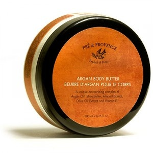 PRÉ DE PROVENCE argan oil skin care (products range from $12.95 to $32.95).