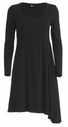 "A lovely black dress ""Iita"" made of tricot by Finnish fashion designer Katri Niskanen.    http://www.designbykatrin.com/"