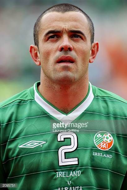 Portrait of Stephen Carr of the Republic of Ireland taken before the UEFA European Championships 2004 Group 10 Qualifying match between Republic of...