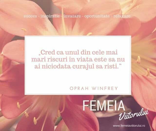 Mesajul zilei, cu drag pentru tine, Femeia Viitorului! www.femeiaviitorului.ro Aprecierile si distribuirile voastre ne ajuta foarte mult sa dezvoltam comunitatea si va multumim in avans!
