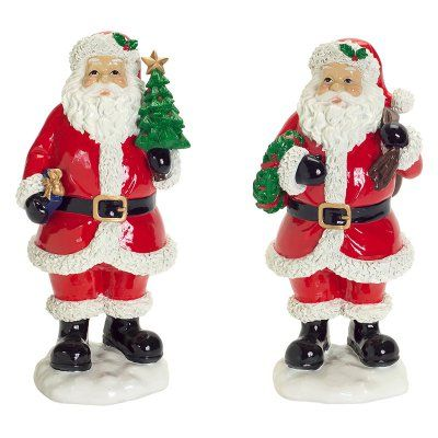 Melrose 12.5 in. Traditional Santa Figurine Set - 64082
