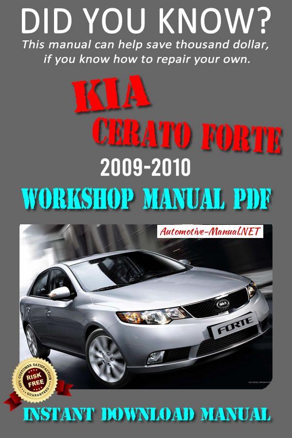 Download Kia Cerato Forte 2009 2010 Workshop Manual Pdf Kia Repair Manuals Manual