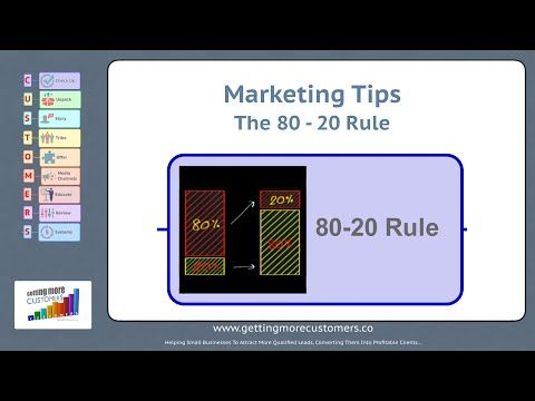Business Marketing Tips   The 80 20 Rule applying to your business