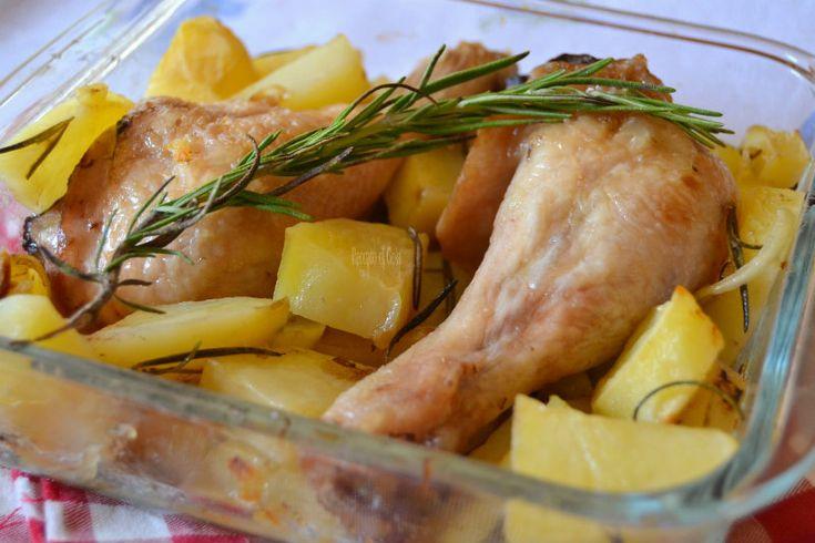 Pollo e patate al forno, secondo facile