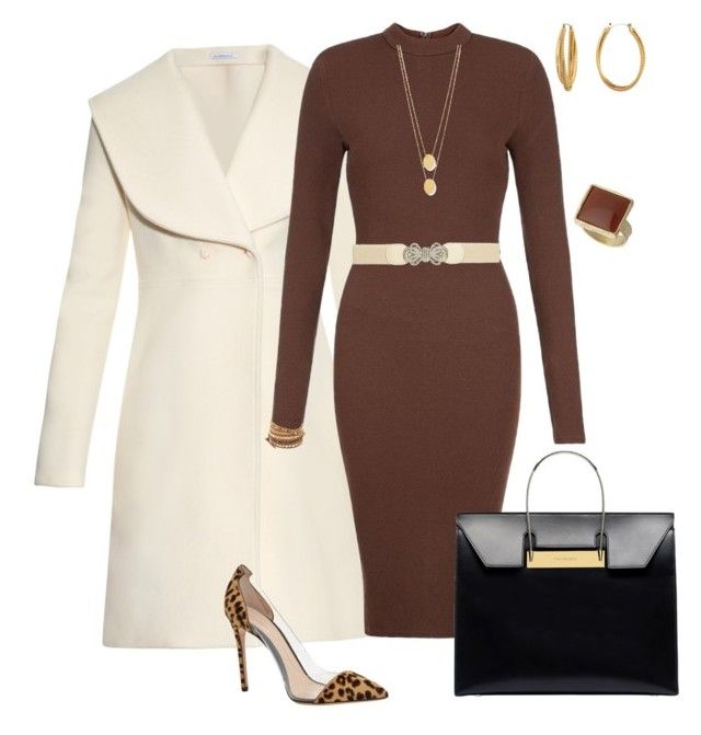 """Working Fall"" by cortney-reed on Polyvore featuring J.W. Anderson, AX Paris, Dorothy Perkins, Diane Von Furstenberg, Chan Luu, Jennifer Zeuner, Gianvito Rossi and Balenciaga"