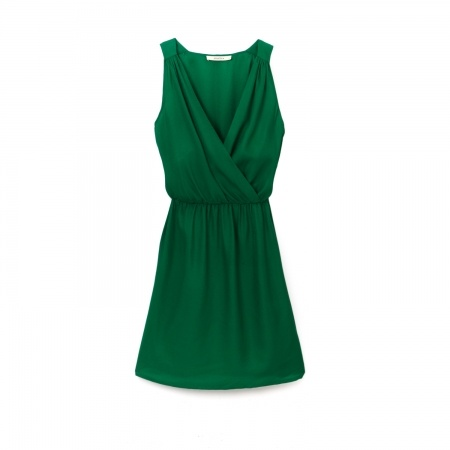 Pretty green dress, love the lines but not in silk and not at $278.