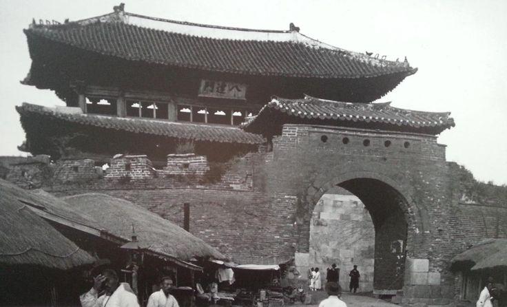 Paldal-gate of Hwaseong in Suwon, Korea(1920)
