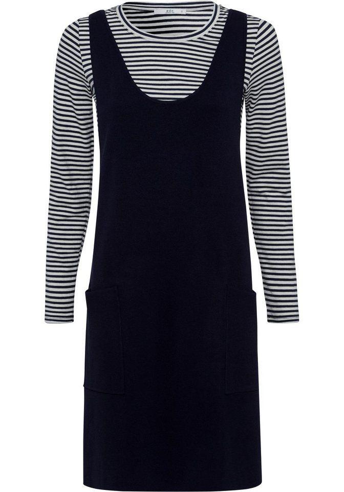 b71a101985fa edc by Esprit 2-in-1-Kleid (Set, 1 tlg., mit T-Shirt) aus Jersey und  Interlock im Mix   Fashion Sept 01   Pinterest