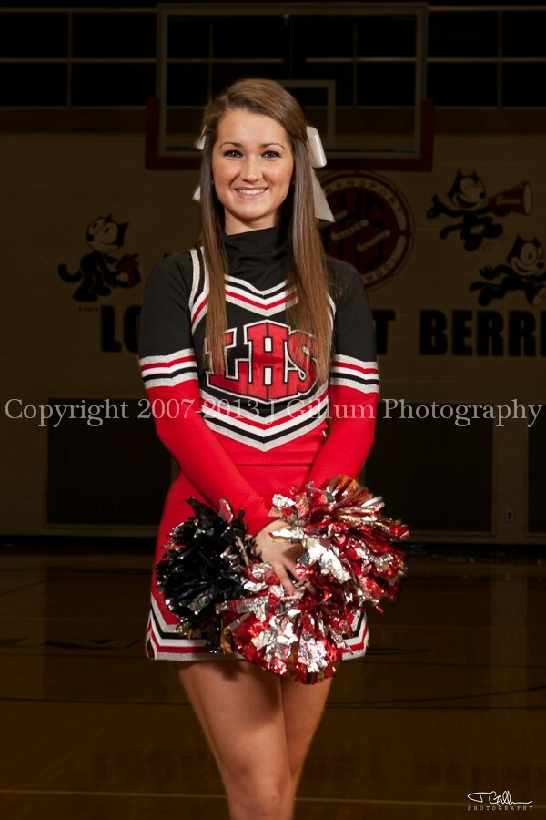 Cheerleader Senior Pictures by J Gillum Photography serving the Entire Midwest