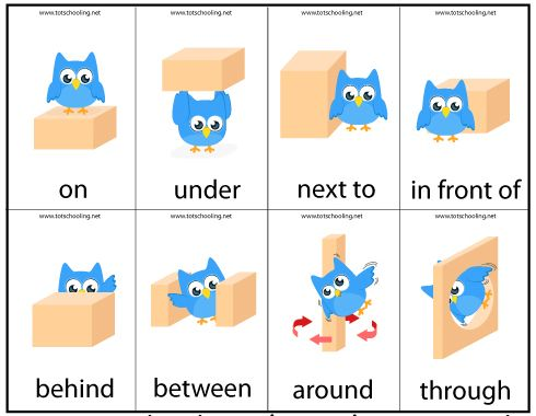 motor skills preposition game - Free Printable Activities