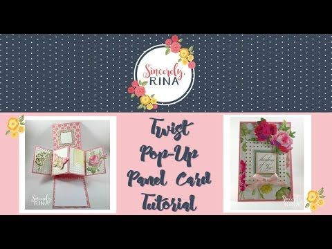 twist pop up panel card tutorial youtube excellent tutorial cards fancy folds. Black Bedroom Furniture Sets. Home Design Ideas