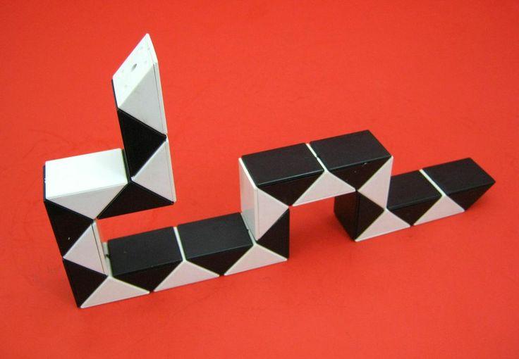 Alte 70er Jahre Snake Cube Magic Snake vermutlich Rubiks