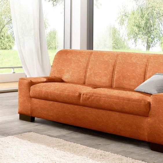 Domo Collection 3 Sitzer Sofa Braun Microfaser Hoher Sitzkomfort In 2020 Love Seat Furniture Sofa