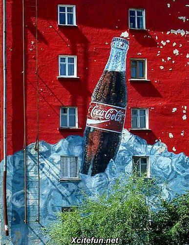 Coca cola wall mural building wraps murals for Coca cola wall mural